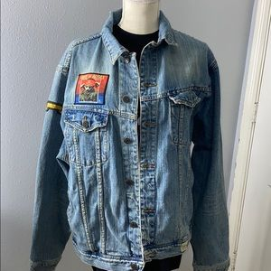 Abercrombie and FITCH Jean jacket size xl